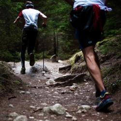 Trailrunning Schuhe im Einsatz
